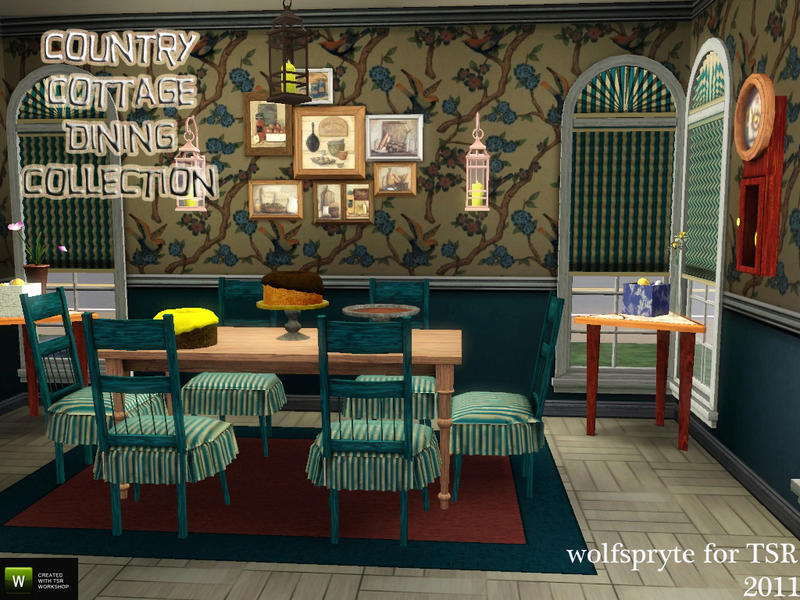 Country Cottage Dining Collection by wolfspryte