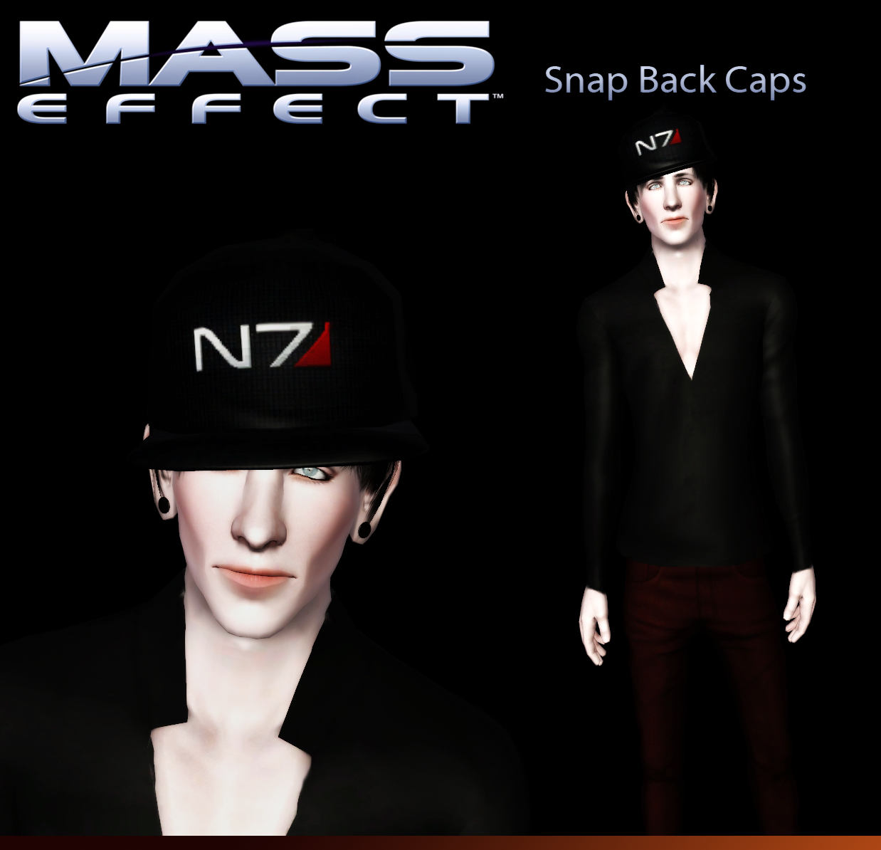 Mass Effect Snap Back Caps by TheCnih