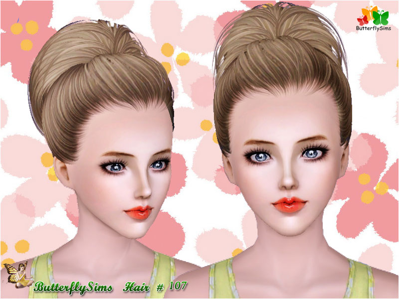 Hairstyle 107 by ButterflySims