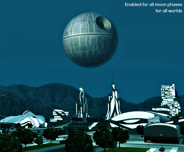 Death Star Default Replacement Moon by Misty