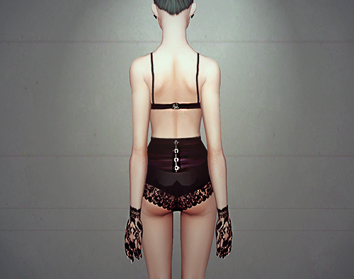 Jewelled Lingerie Set - By MissFortune Sims