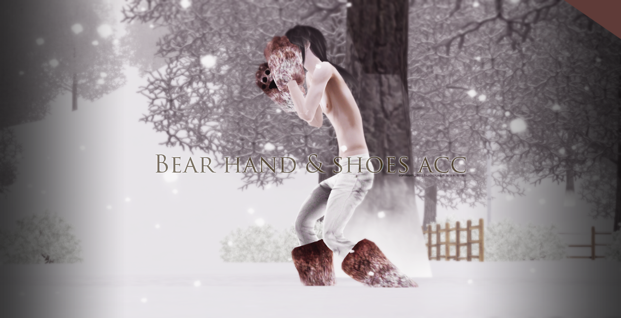 Bear hand & shoes set by Black