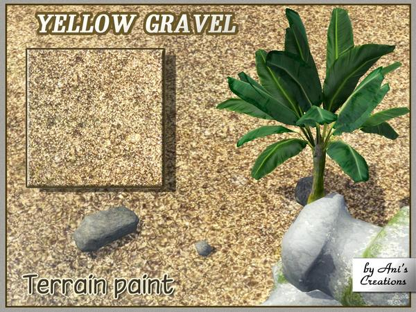 Yellow gravel terrain paint by Ani's Creations