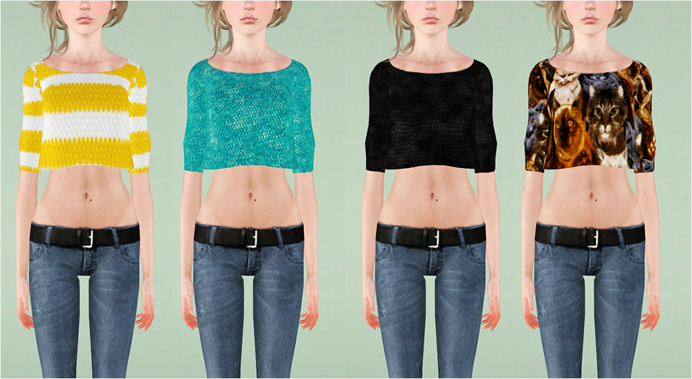 Faded crop sweater by Plumb-barb
