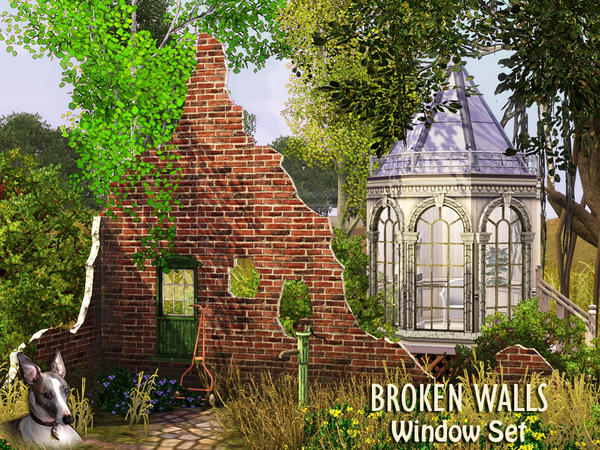 Broken Walls Window Set by Cyclonesue