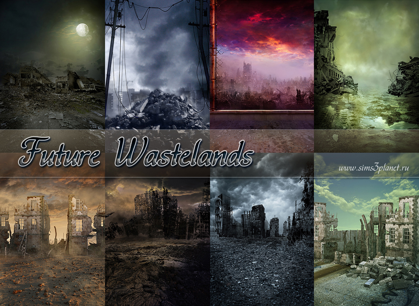 Future Wastelands backgrounds by Torri