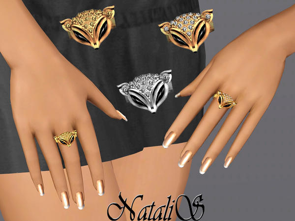 Lady Fox rings set FT-FA by NataliS