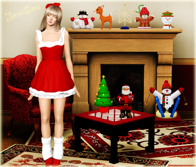 Base Game Compatible Christmas Decor by Jenni