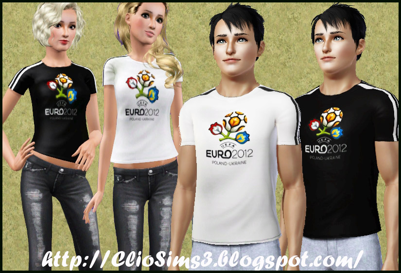 Euro 2012 t-shirt (male and female) by Clio