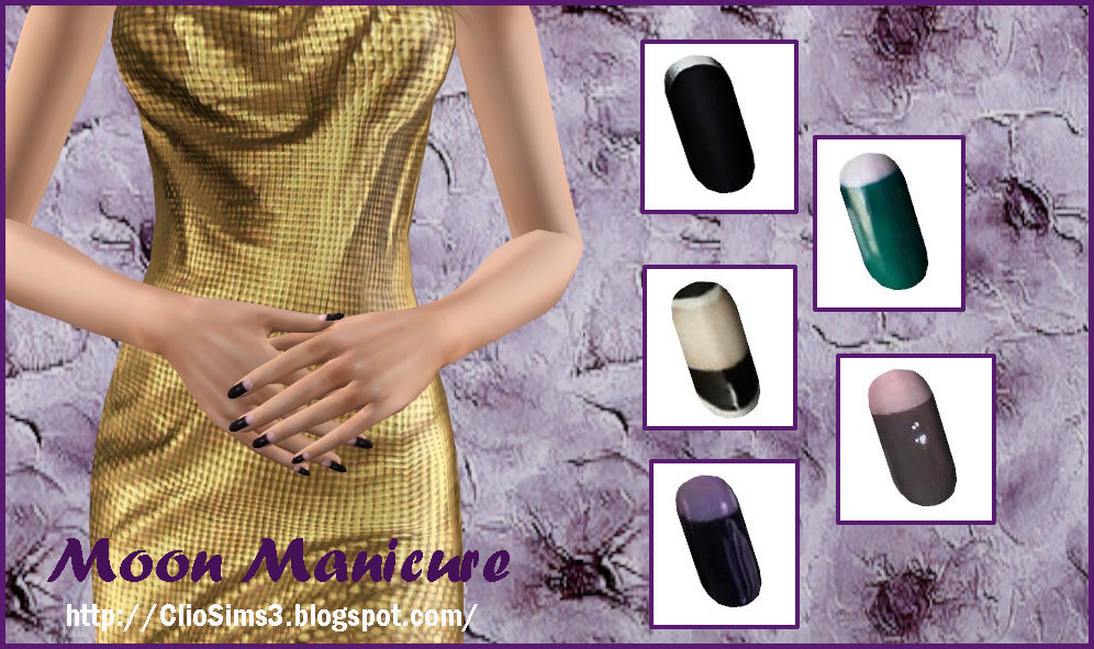 Moon manicure by Clio