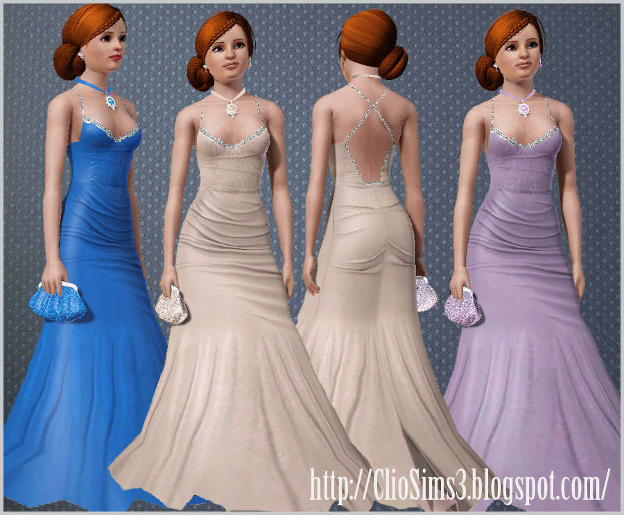 Arida set (dress, earrings, necklace, clutch) by Clio
