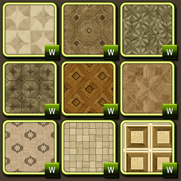 64 Patterns Decorative Parquet by IMHO