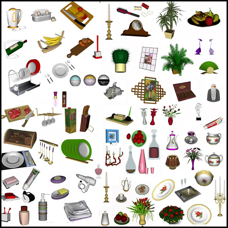 Decor set (updated for The Sims3 Pets) by Clio