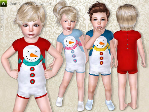 Short Romper Snowman by lillka