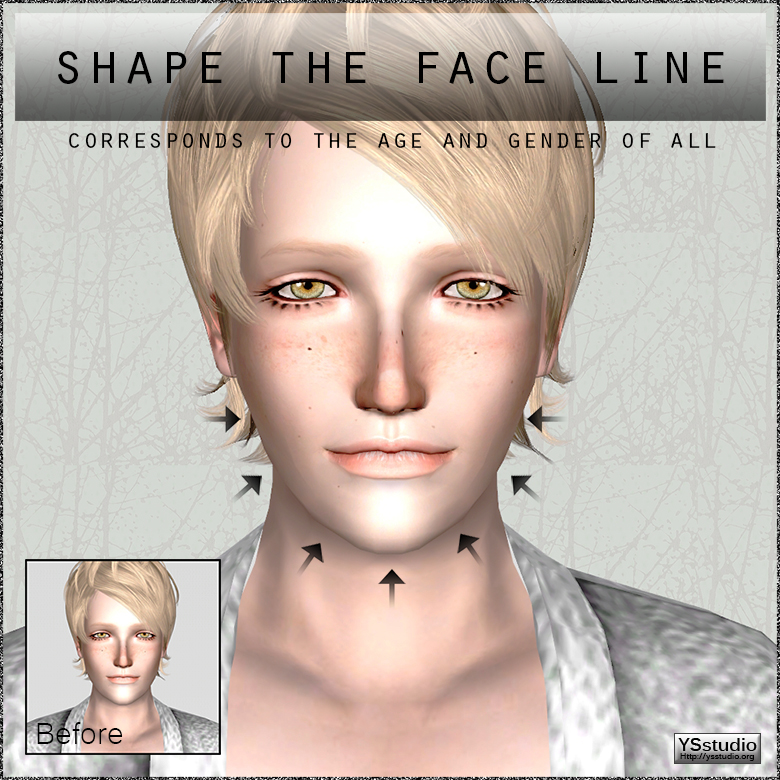 Shape the face line by YSstudio