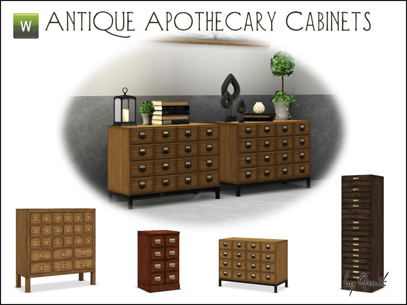 Antique Apothecary Cabinets by Gosik
