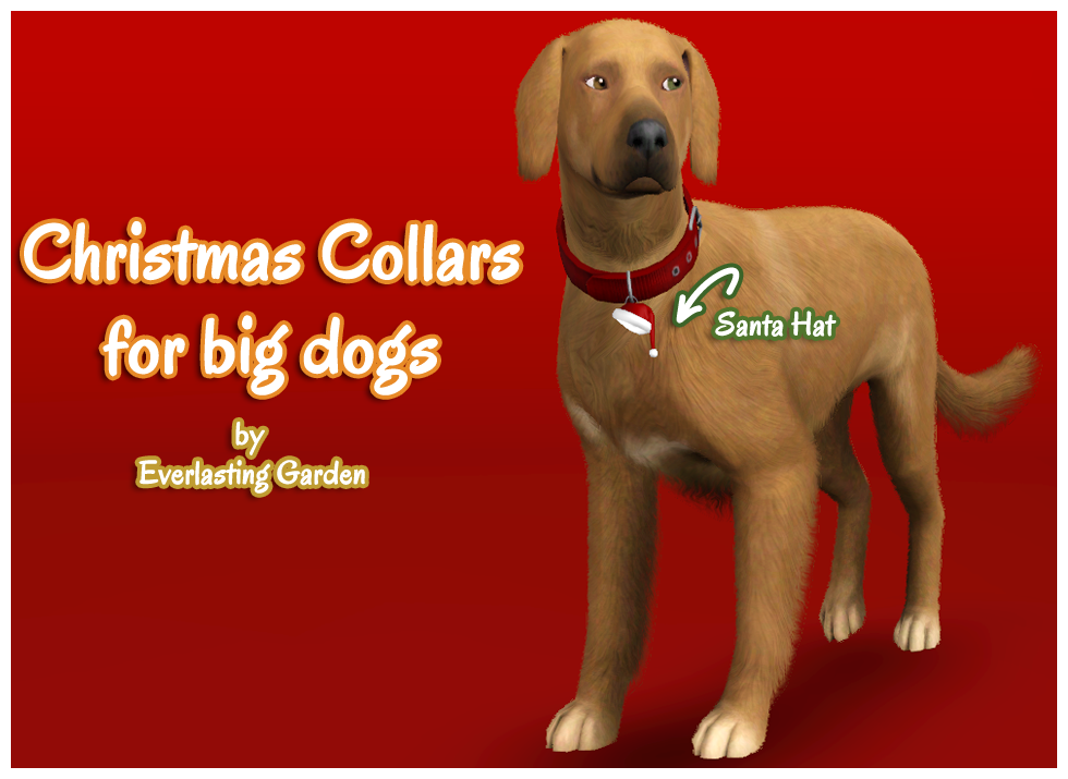 Christmas Collars for Big Dogs by Everlasting Garden