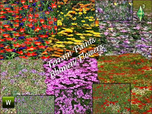 Flower Terrain Paints by Mabra