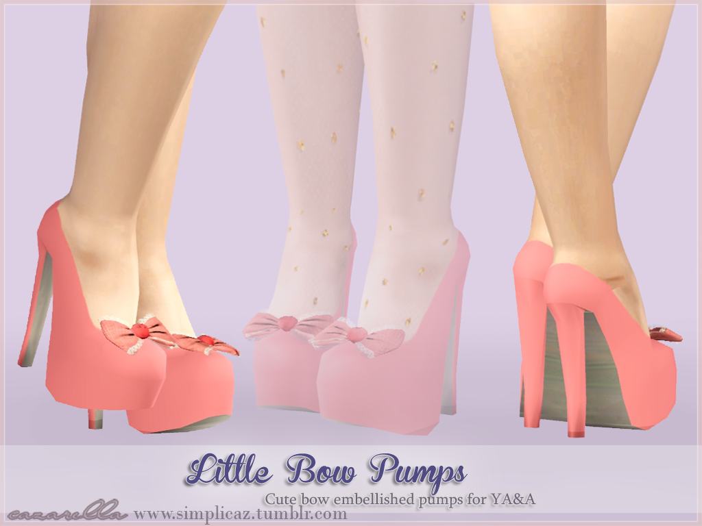 Little bow pumps by Cazarella