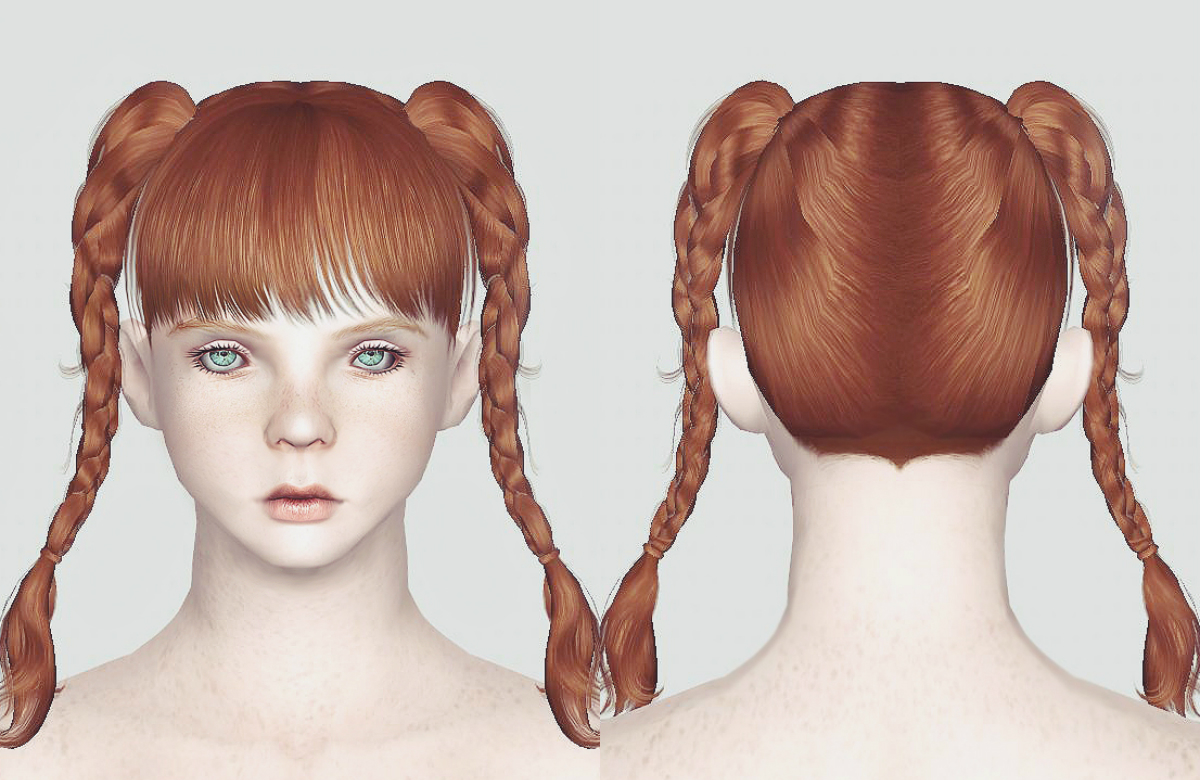Braided Pigtails Retexture by Momosims