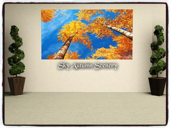 Sky Autumn Scenery by dowdell626