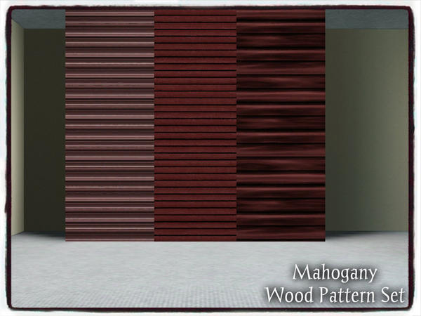 Mahogany Wood_PATTERN SET by dowdell626