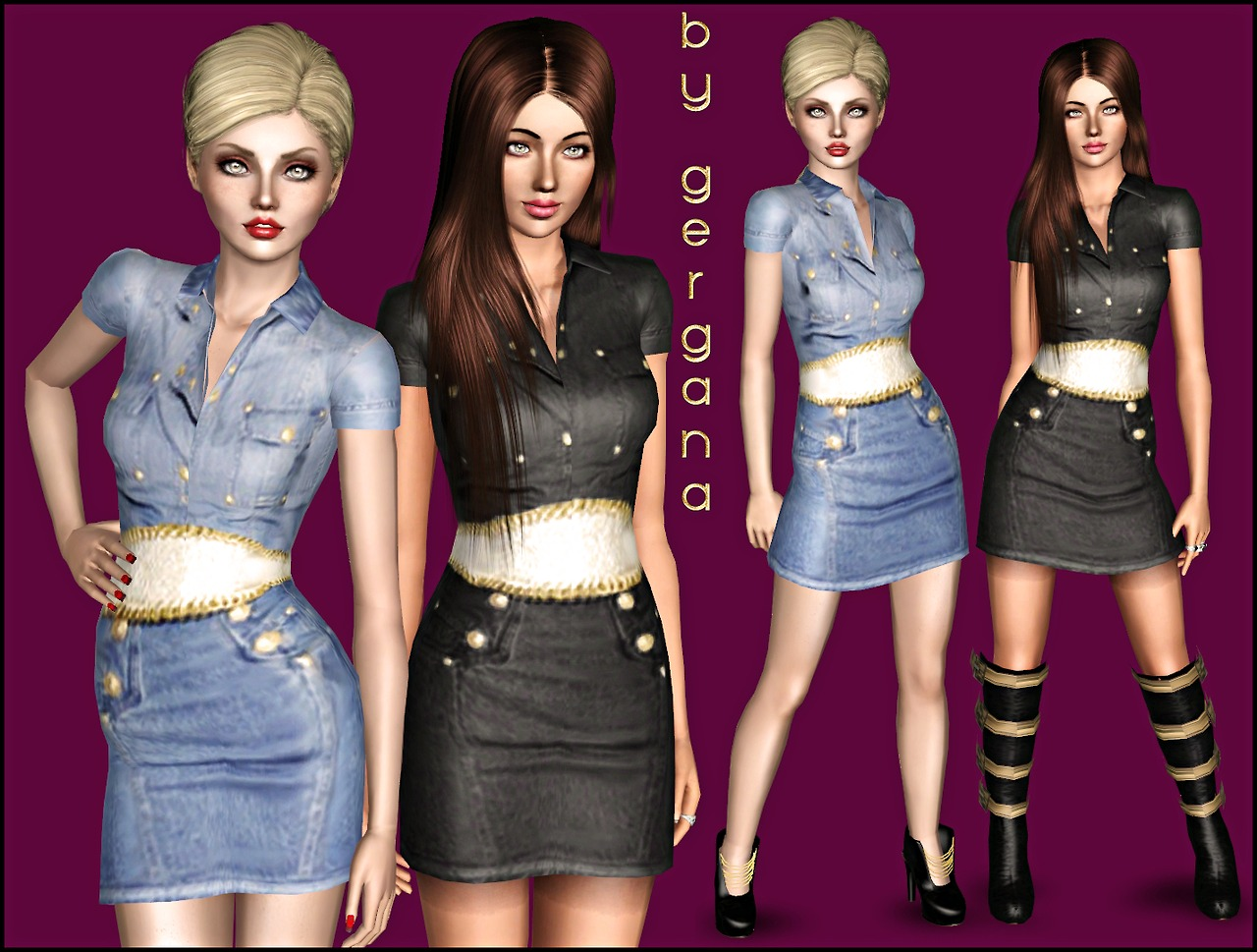 Balmain Denim Dress by Gergana