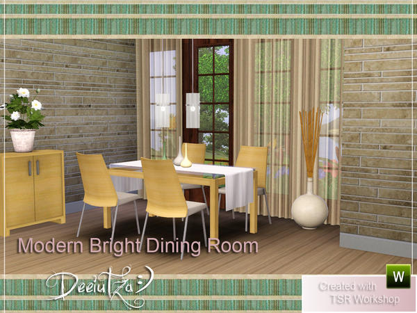 Modern Bright Dining Room by deeiutza