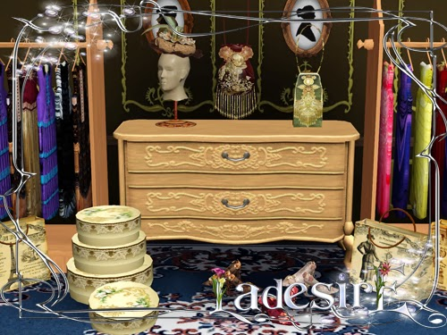 Victorian Fashion Decor by Ladesire