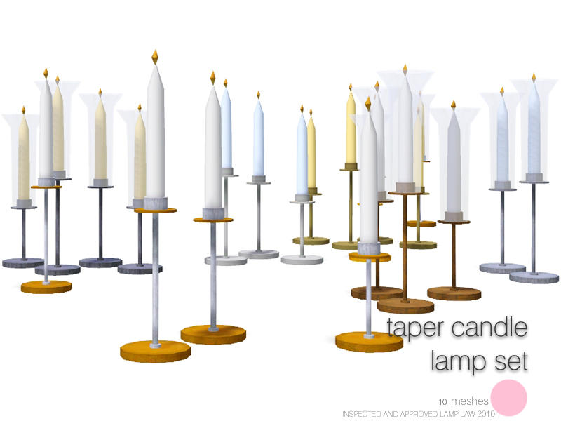 Taper Candle Lamp Set by DOT