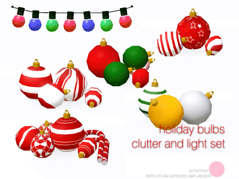 Holiday Bulb Clutter And Light Set by DOT