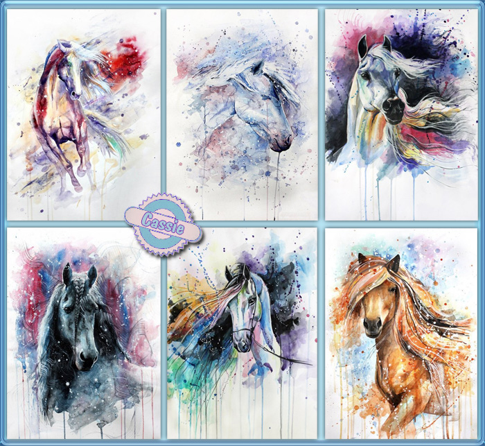 Horses art by Cassie