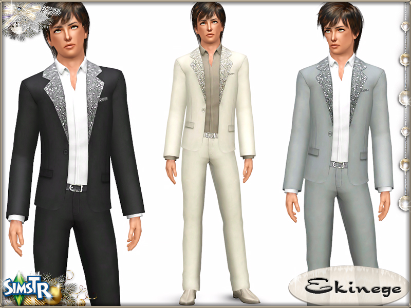 Sequin Detail Suit for Adult Males by Ekinege
