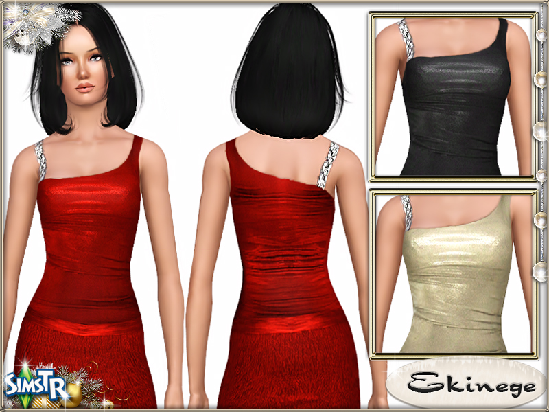 Metal Shoulder Top [Adult & Young Adult] by Ekinege