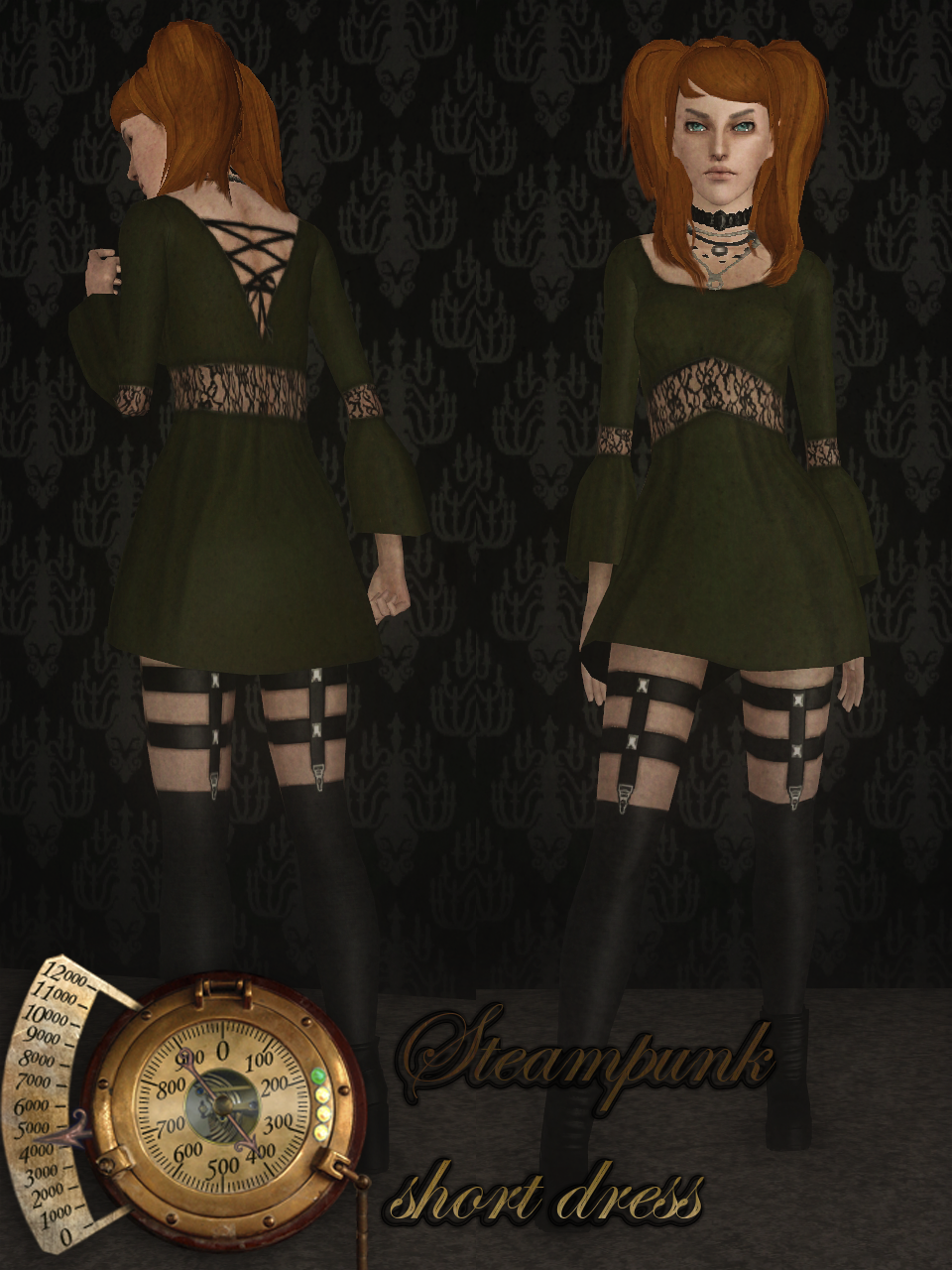 Steampunk short dress by Sunny