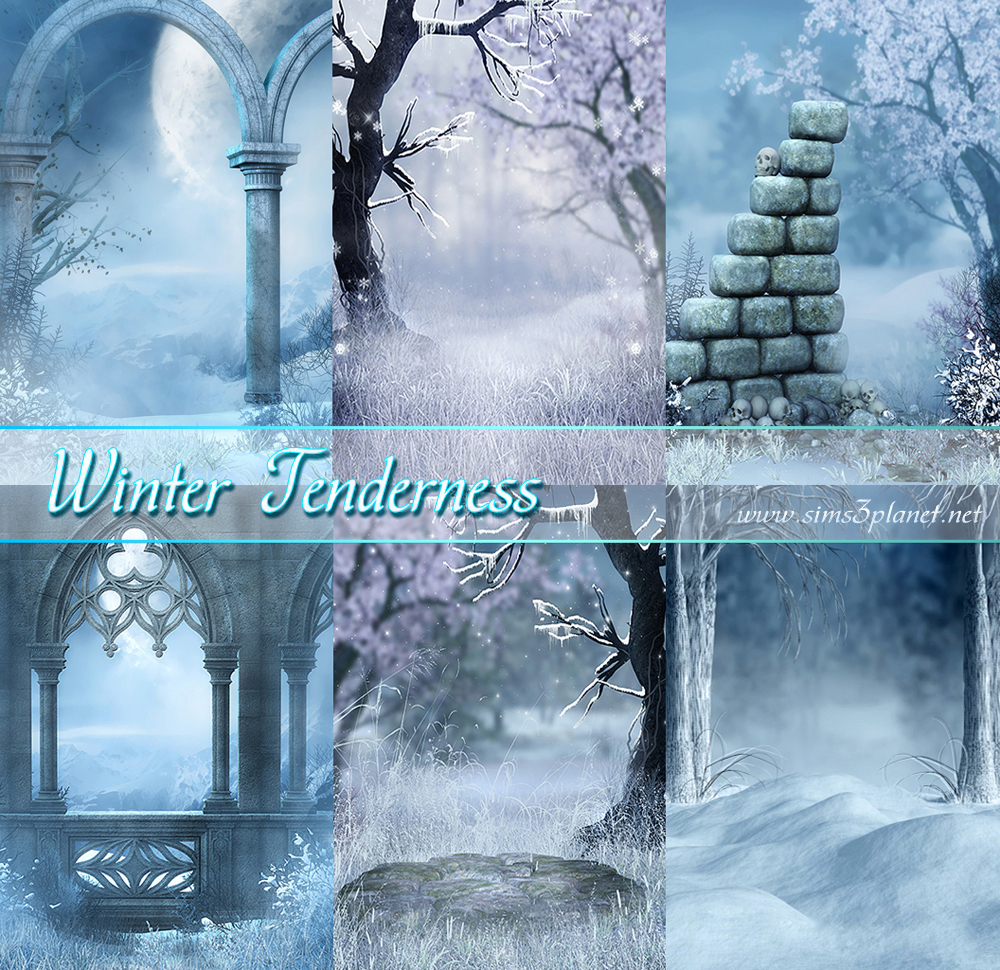 Winter Tenderness backgrounds by Torri