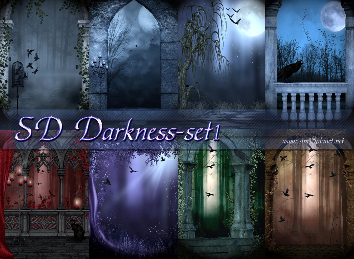 SD Darkness set1 backgrounds by Torri