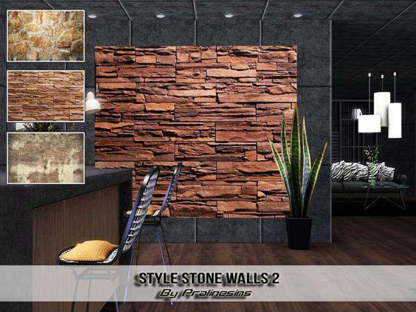 Style Stone Walls 2 by Pralinesims