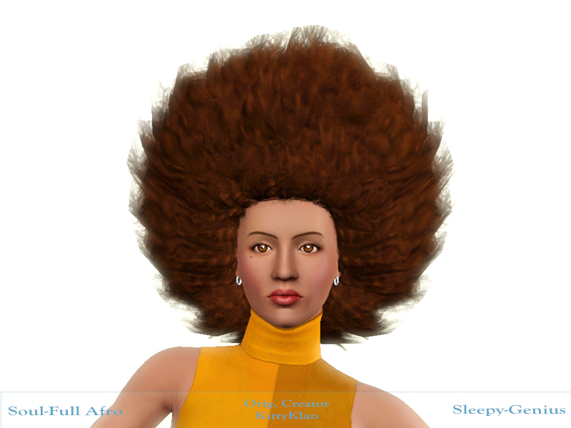 Soul-Full Afro, a KittyKlan Half-Braided Fro Edit by Sleepy-Genius
