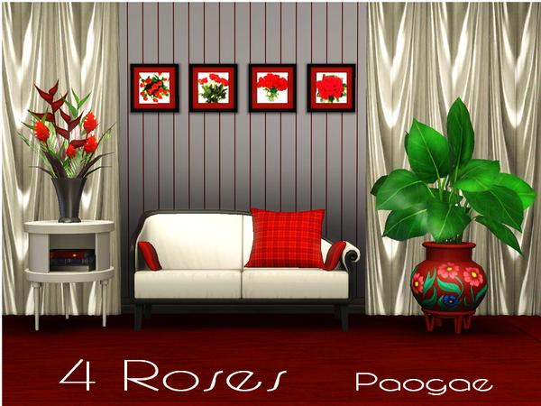 4 Roses by Paogae