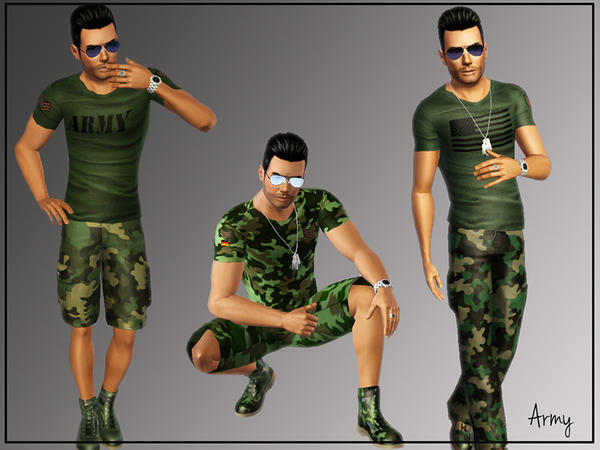 Army T-shirts by flower_love