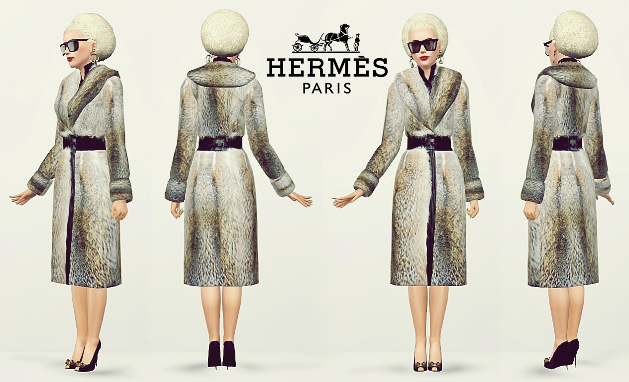 Herms Faux Fur Coat by Artsims
