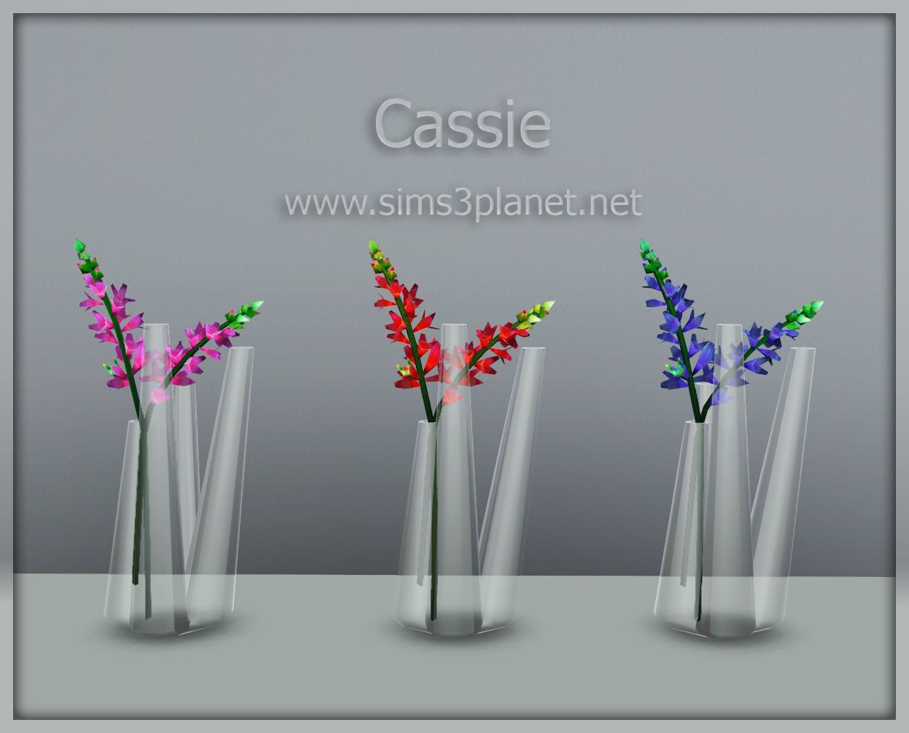 Glass vase with flowers conversion by Cassie