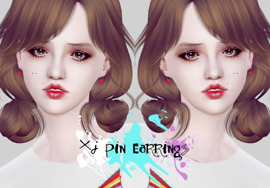 Pin earrings by XJ
