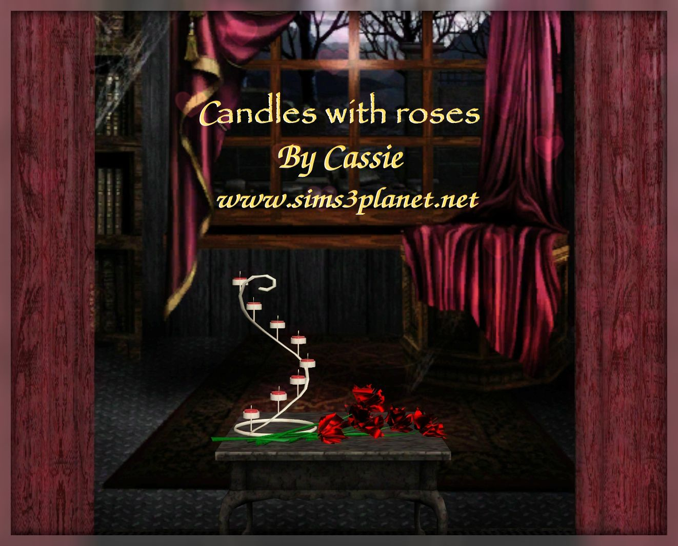 Сandles with roses conversion by Cassie