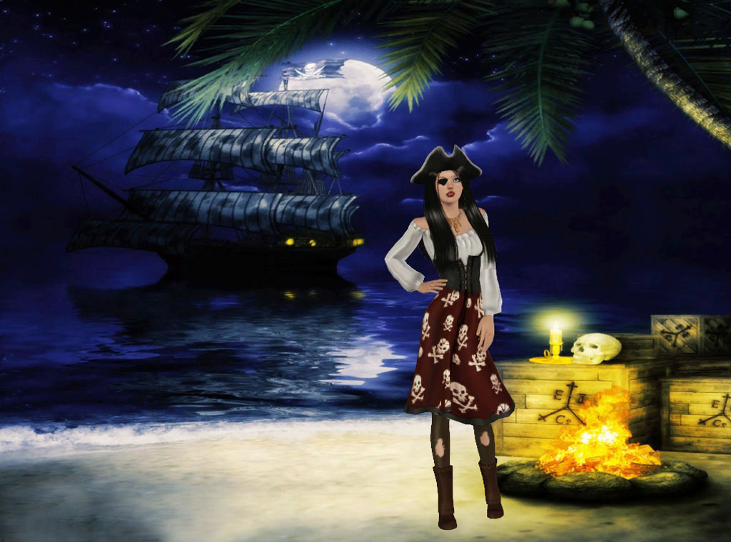 Sveva's Pirate Beaches backgrounds by Torri