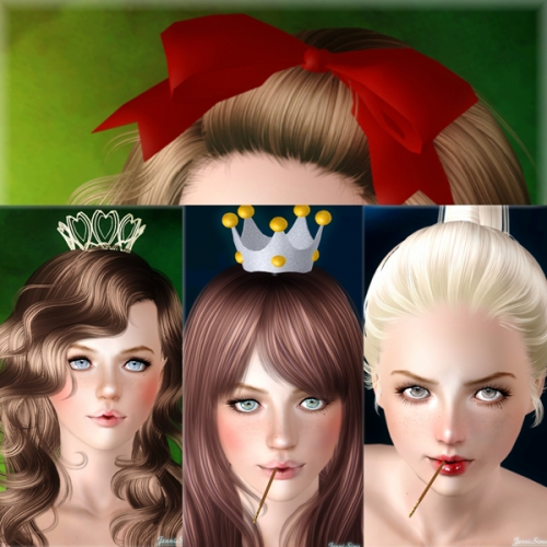 Accessories candy for the mouth, 2 crowns and bow by Jenni