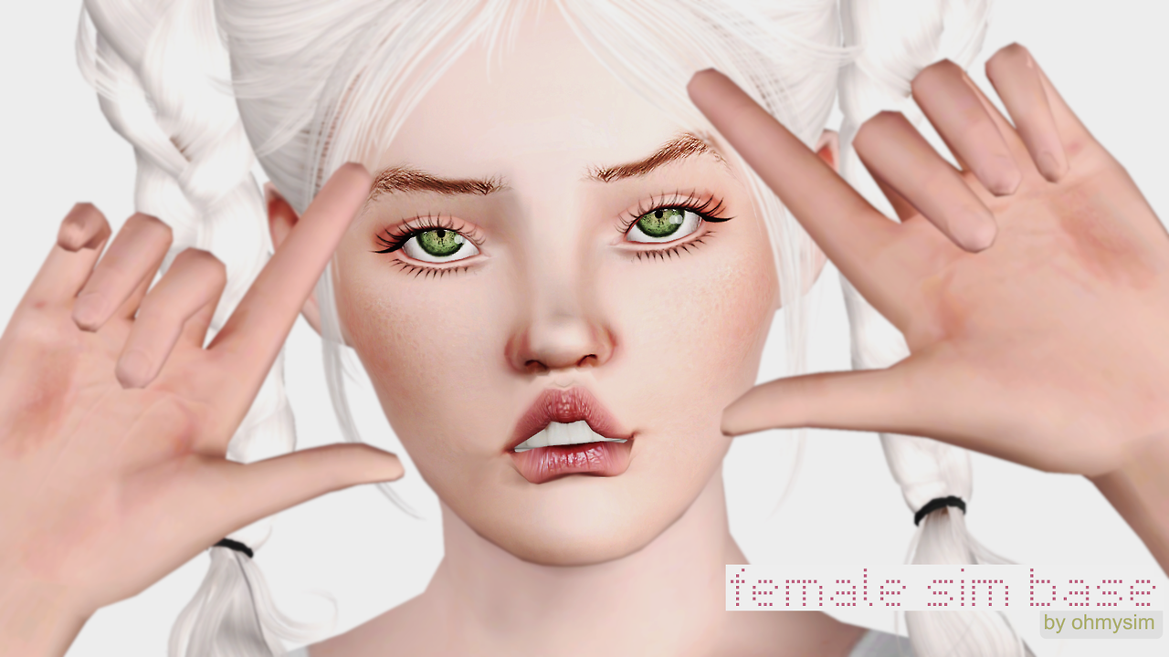 Female model Sim base by ohmysim