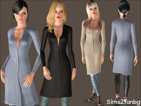 380 - Coat with jeans by sims2fanbg