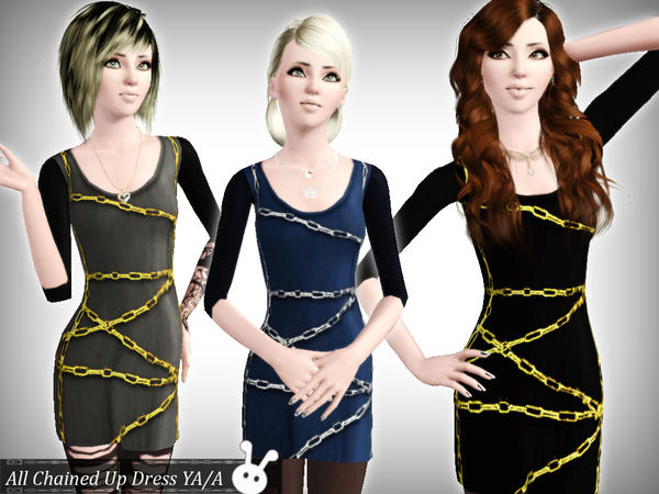 All Chained Up Dress YA/A by XxNikkibooxX